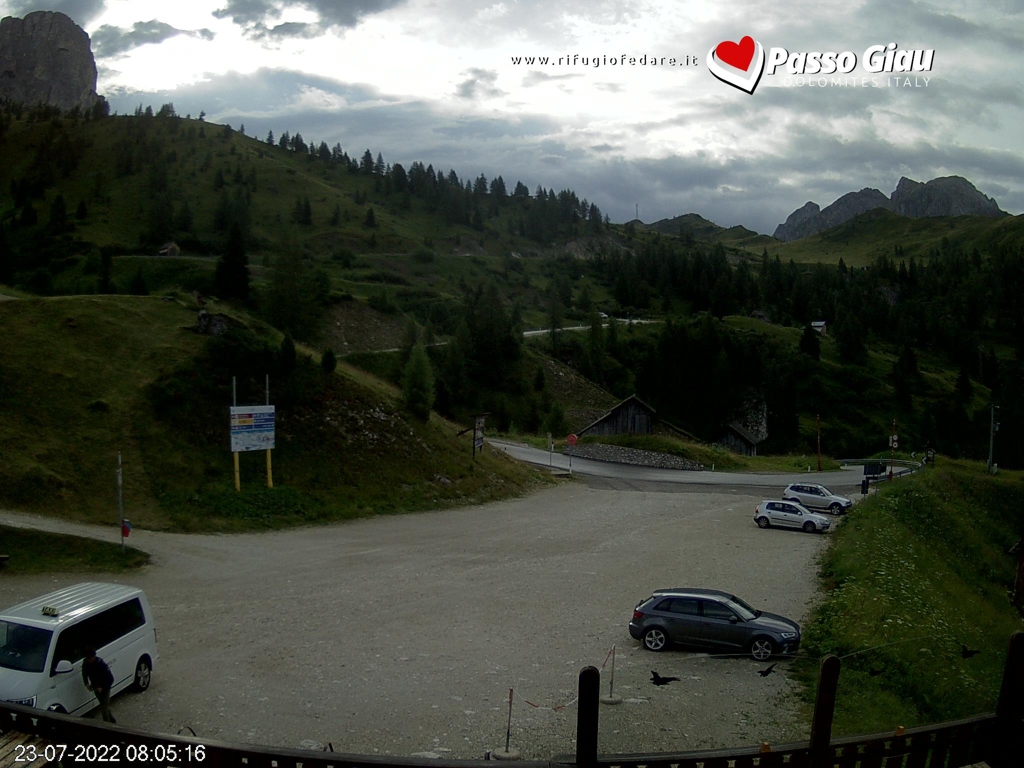 Webcam Refuge Fedare Mt. Civetta view