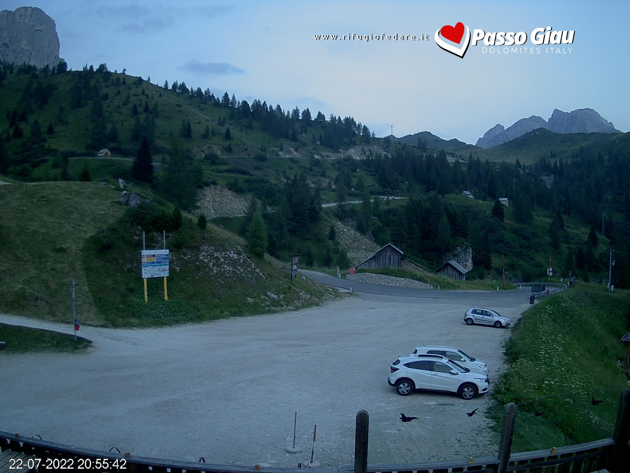 WebCam Rifugio Fedare vista Monte Civetta | Val Fiorentina |Dolomiti Superski