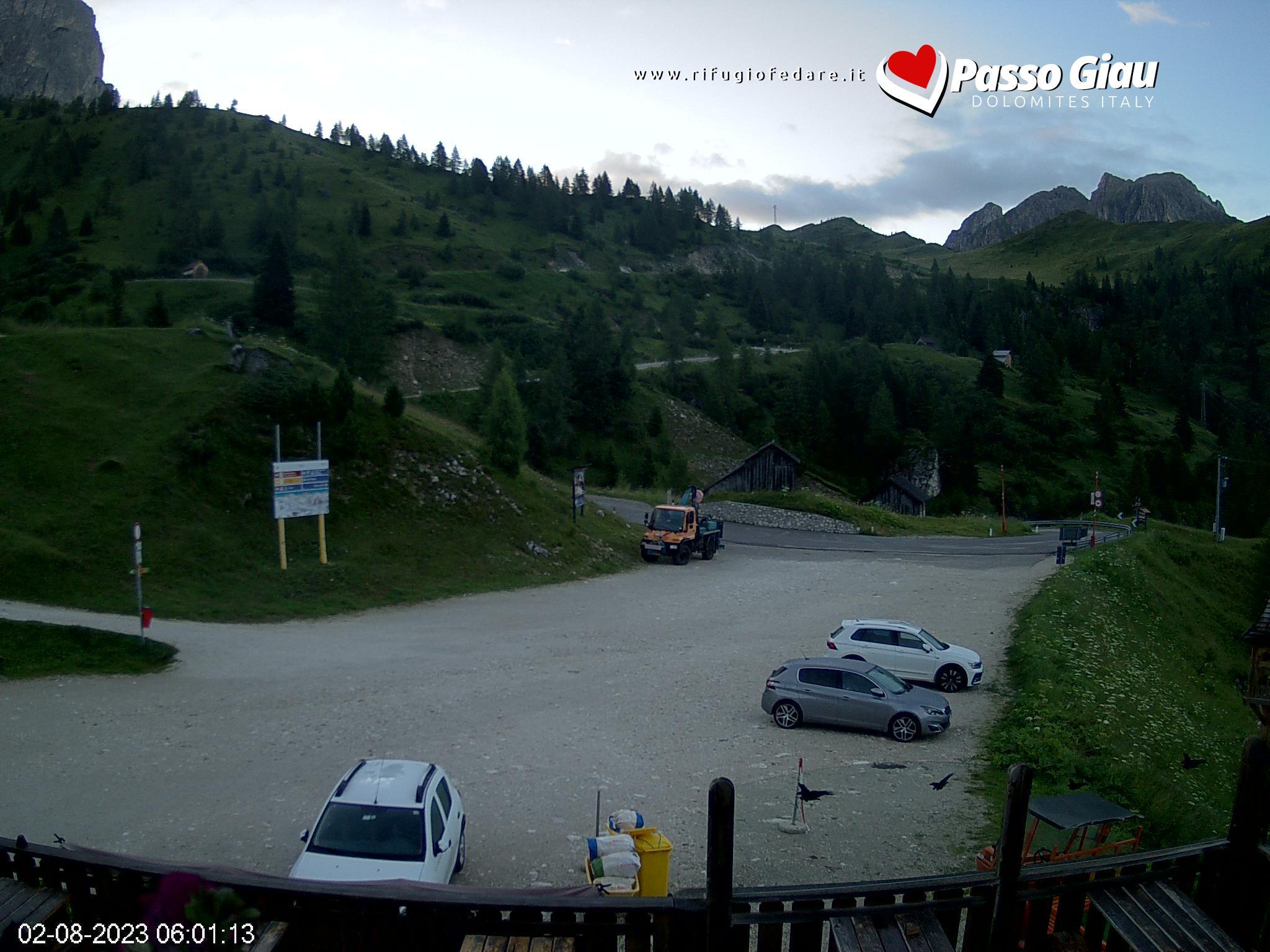 Mount Civetta from Mountain Hut Rifugio Fedare