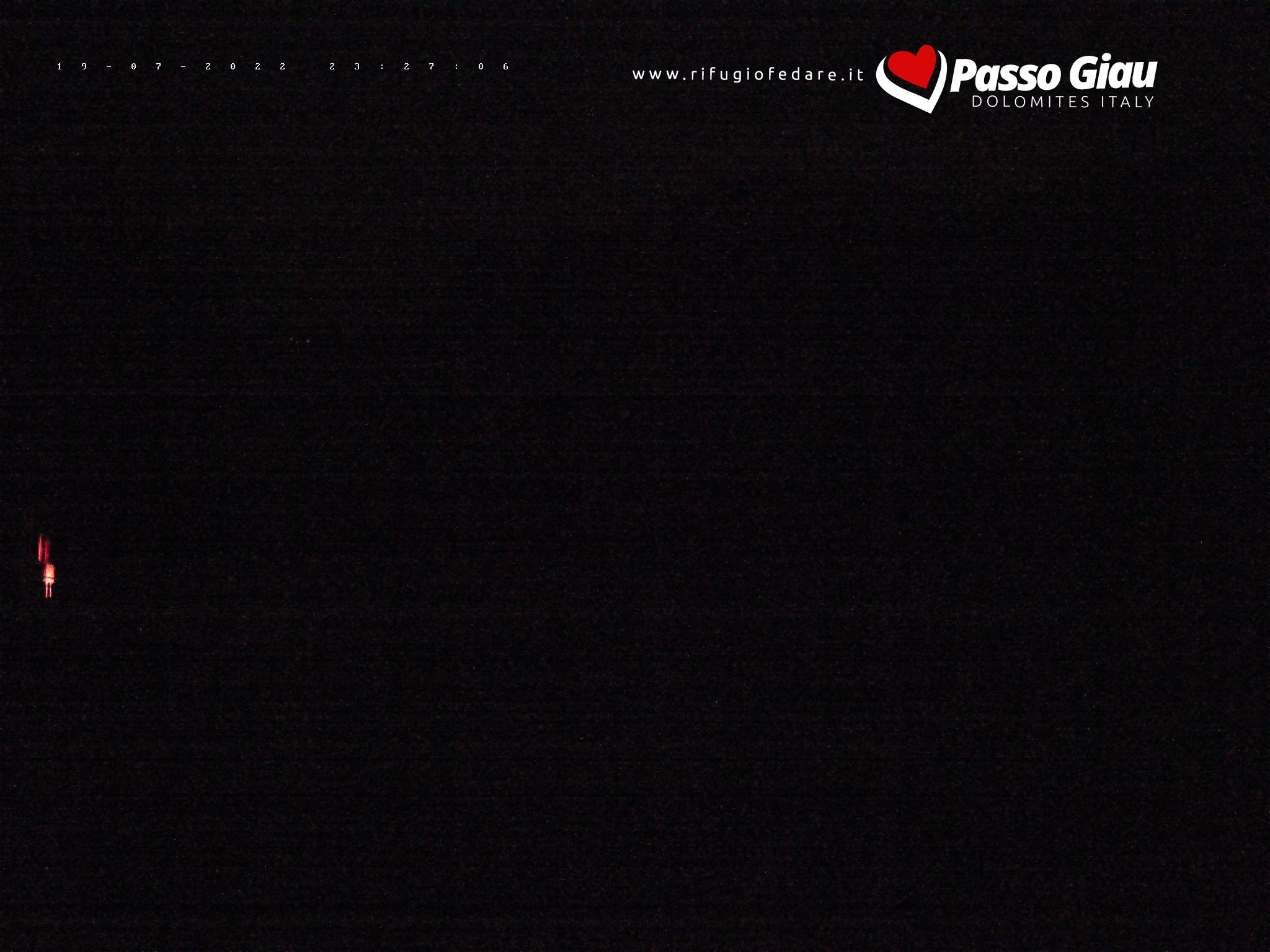 Die Hütte Rifugio Fedare und Giau Fedare Sesselift
